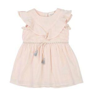 Carrement Beau pink ruffle dress 12mo